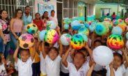 DIF-SAT obsequió sorpresas a alumnos de Jardines de Niños