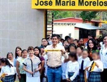 Argeniz Vázquez inauguró barda perimetral en escuela primaria de la localidad de Salto de Agua de Pío