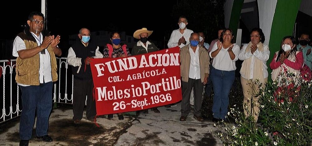 Con invitados especiales conmemoran 84 aniversario de la colonia Melesio Portillo