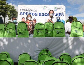 """""""Con entrega de paquetes escolares en El Remolino, cubrimos la meta fijada en apoyo a la educación"""": Tavo Pérez"""