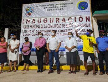 JULIO ORTEGA LLEVA EL DESARROLLO Y EL PROGRESO A BAJOS DE MIMIAHUA