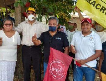 Antorchistas de Catemaco respaldan proyecto de Mario Amoros
