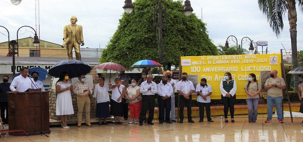 Conmemoración del 100 aniversario luctuoso de don Ángel Rosario Cabada Lili